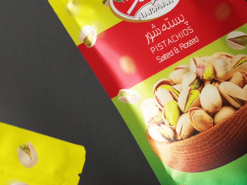 Narmak nuts packaging design-7